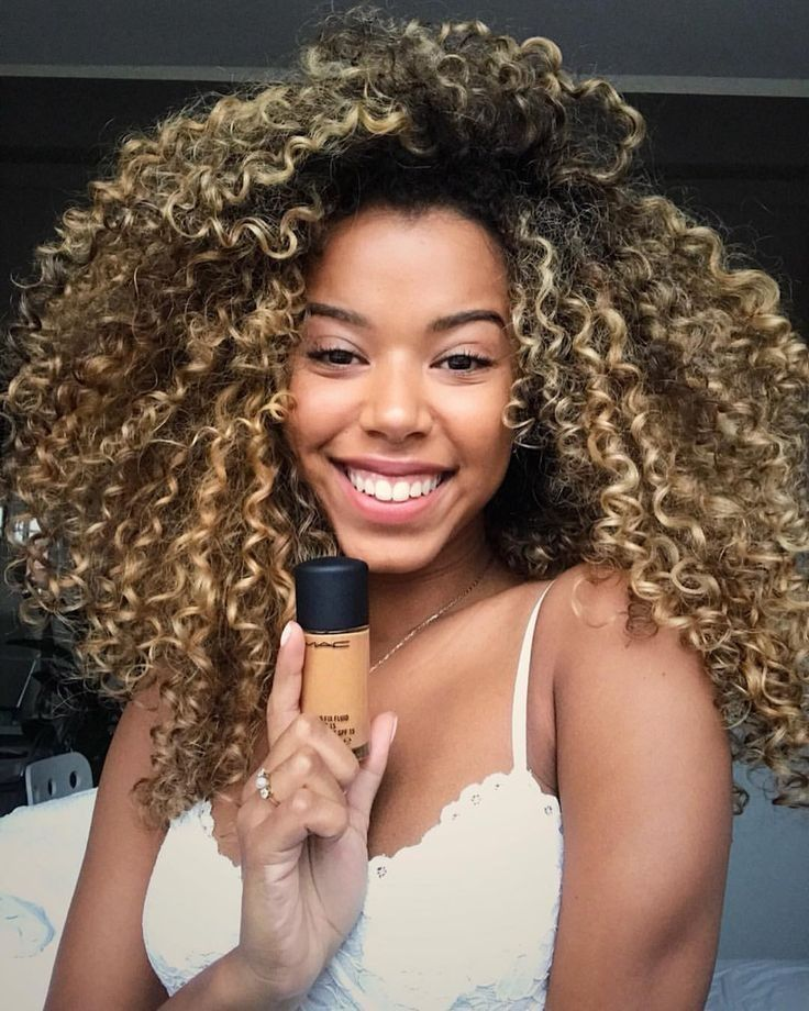 Curly Blonde Highlights For Colored Girls Beautiful Curly Hair