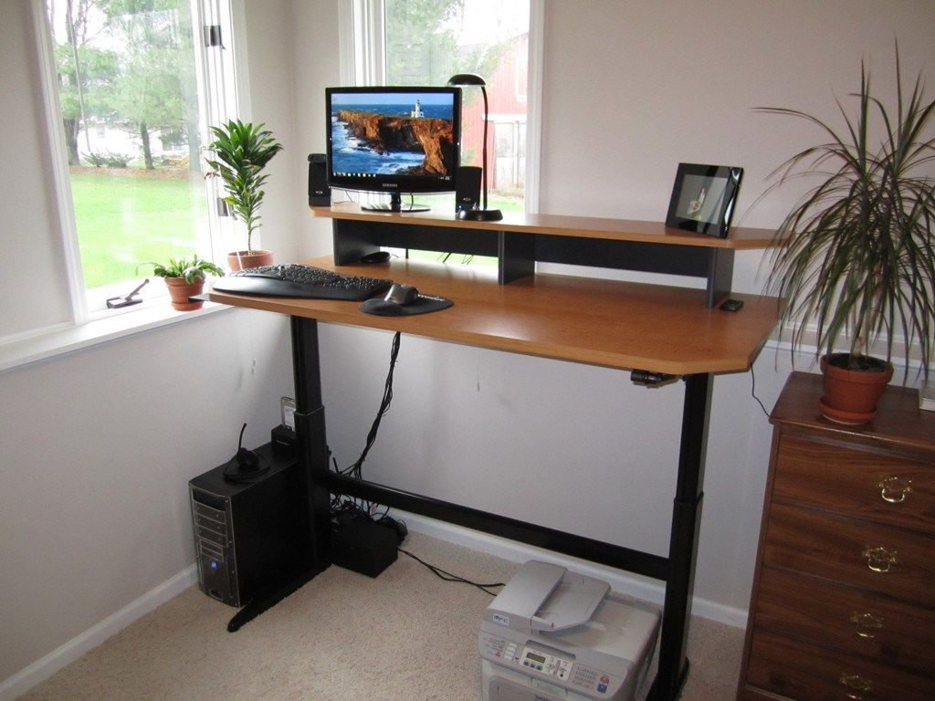 Adjustable height desk standing desk ideas pinterest desks