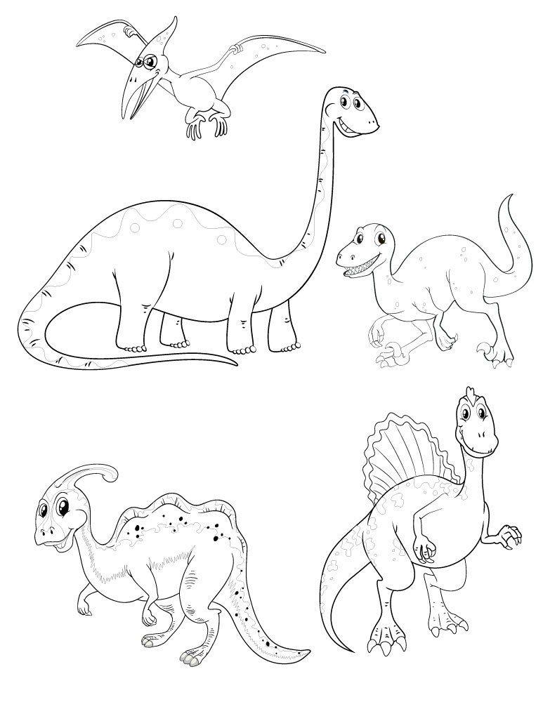 Dessin Pour Enfant Coloriage Dinosaure A Imprimer Baby Monkeys