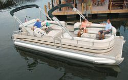 New 2008 Cypress Cay Boats 250 Cabana Pontoon Boat