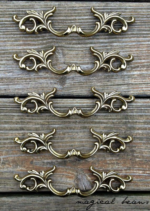 French Gold Drawer Pulls French Provincial Dresser Pulls