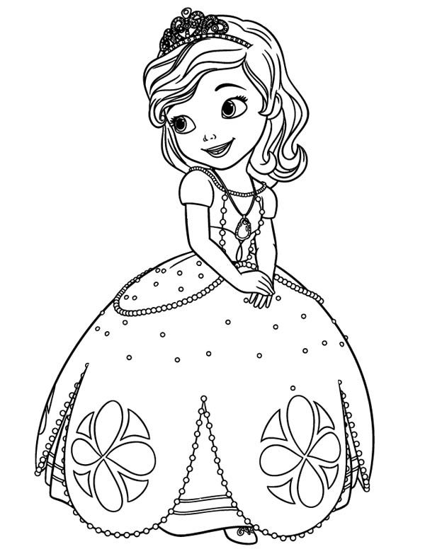 disney sofia the first princess coloring pages - First Coloring Book