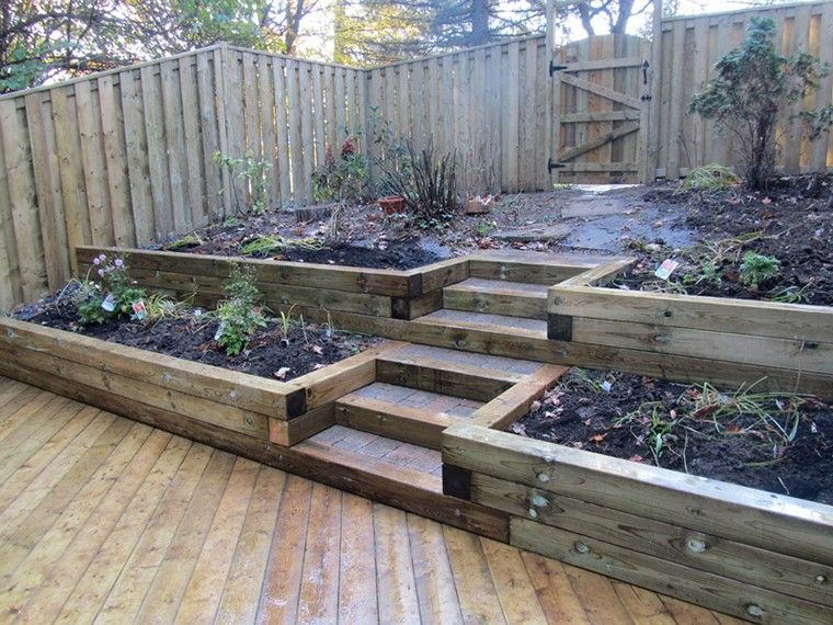 backyard wood retaining wall ideas