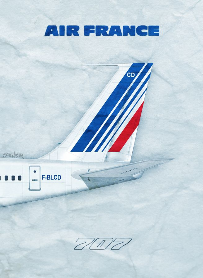 Air France Airlines 707, by Rick Aero www Facebook com