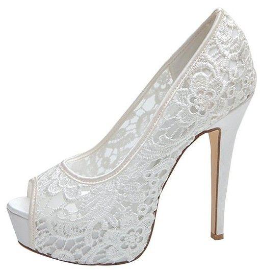 Women's Shoes Platform Peep Toe Stiletto Heel Lace Pumps Wedding Shoes More  Colors available