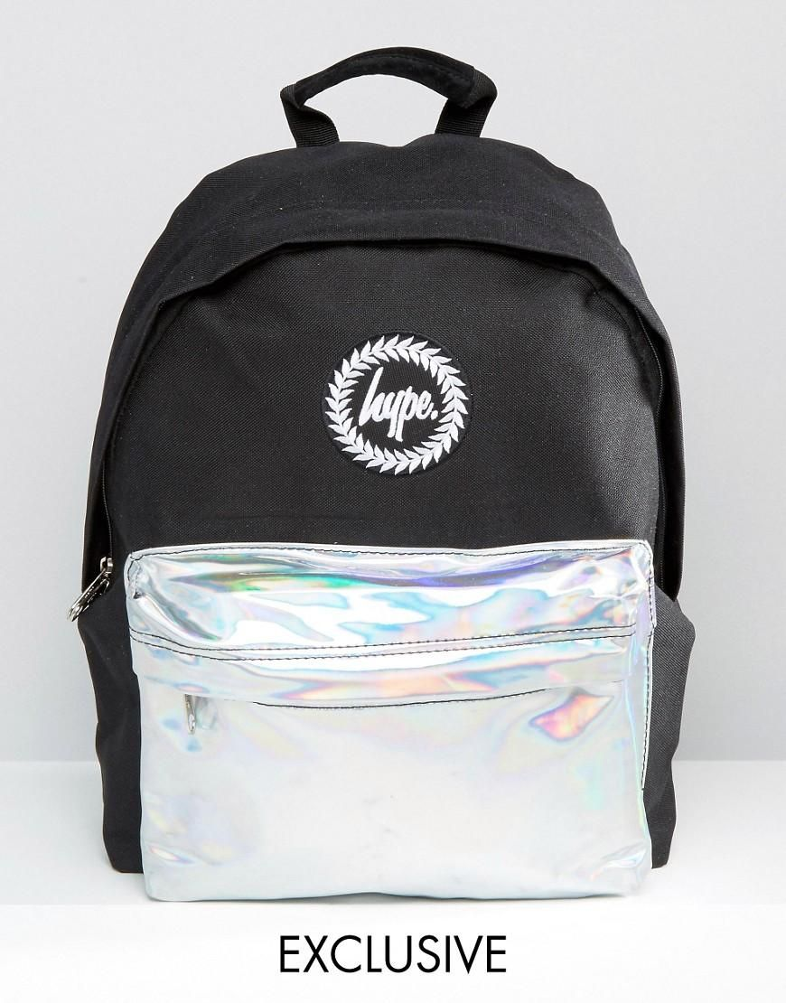 bd3eded582 Hype Exclusive Holographic Contrast Pocket Backpack