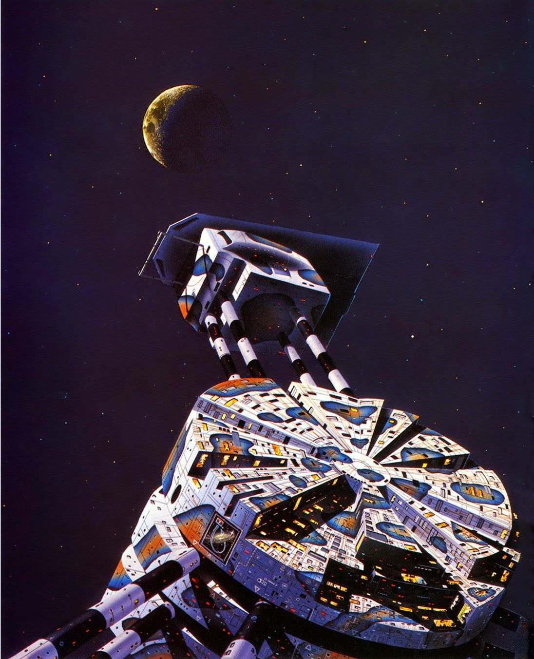 TIM WHITE - art for The Past Through Tomorrow: Vol. 1 by Robert A. Heinlein - 1978 New English Library