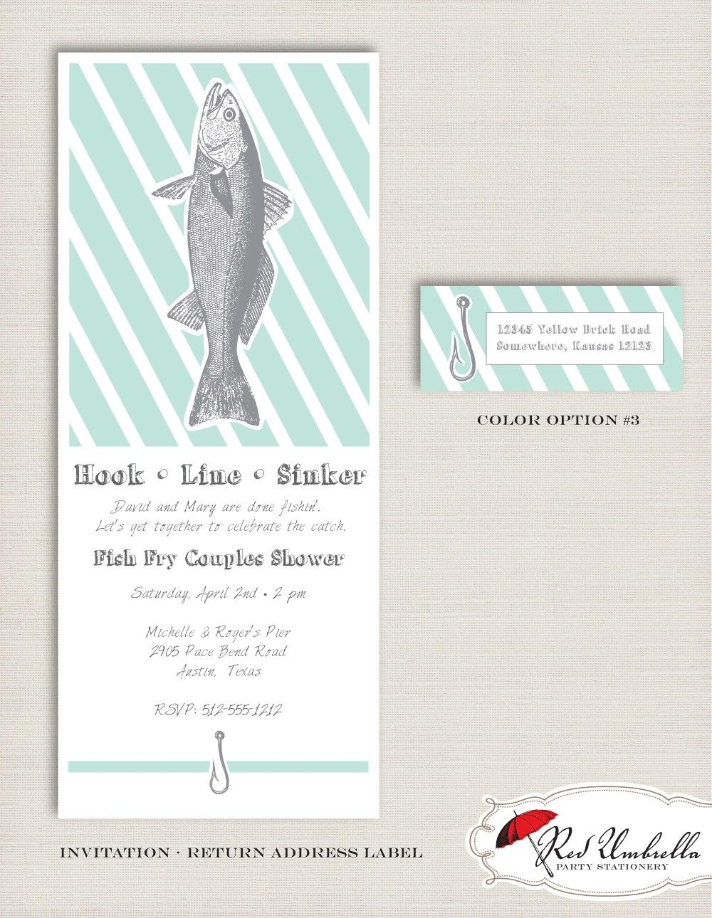 Fish Fry Invitation Custom Printables By Redumbrellaparties 20 00