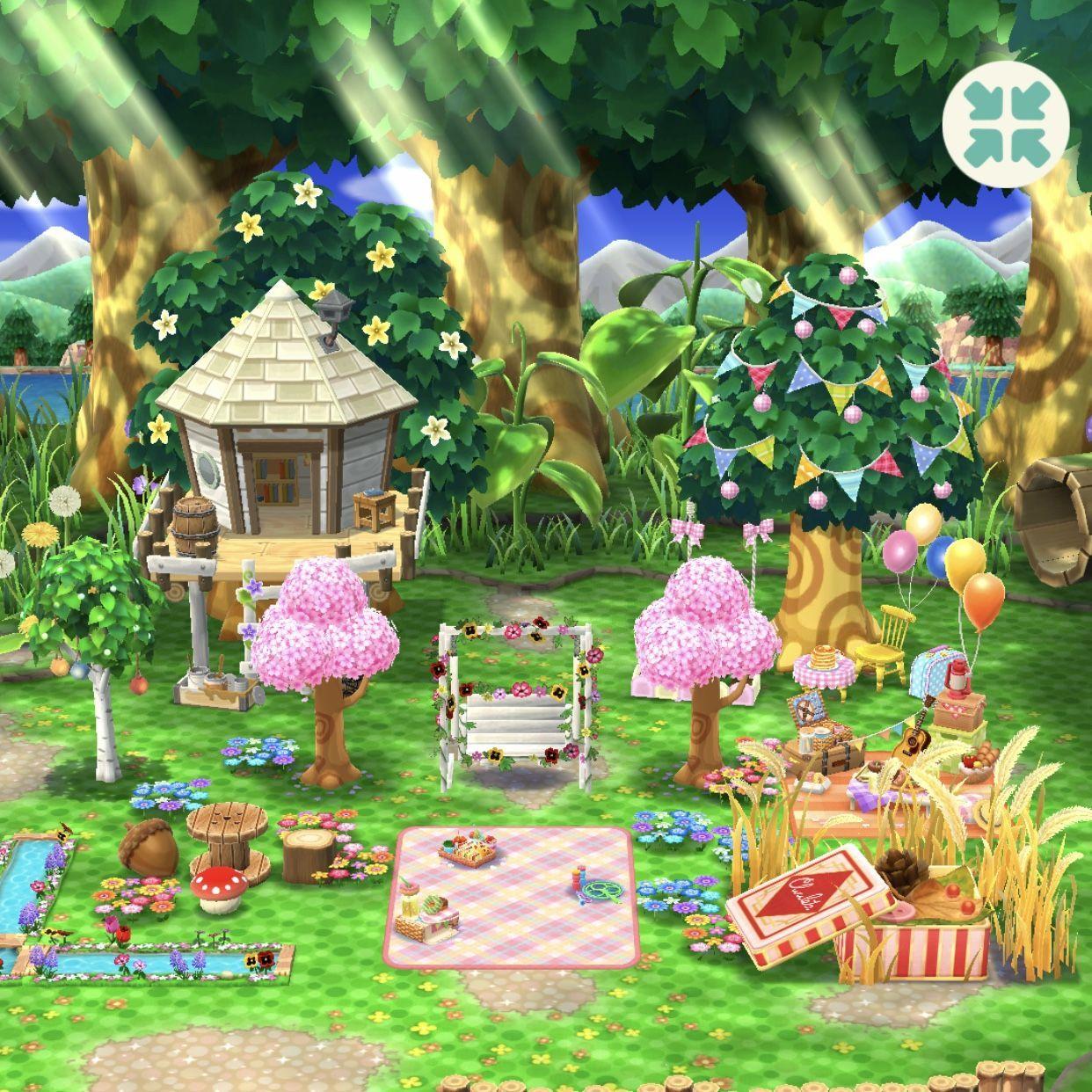 ACPC friend id: 77257600433 #campsiteideas animal crossing pocket camp campsite idea #campsiteideas