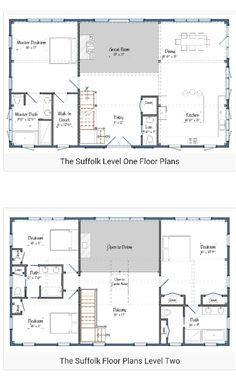 Story Barndominium Plan