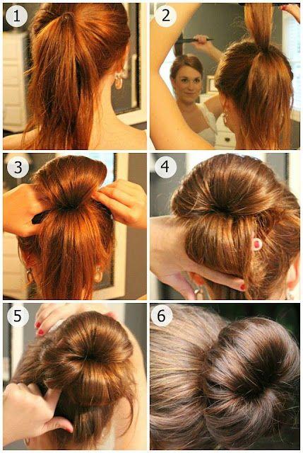 Modele de chignon cheveux long