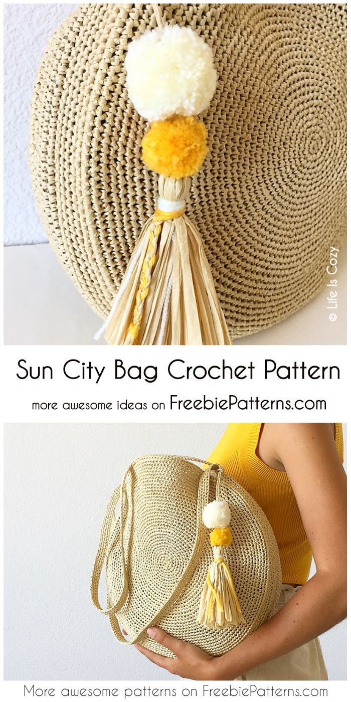 Sun City Bag Free Chrochet Pattern Haken Patronen Pinterest