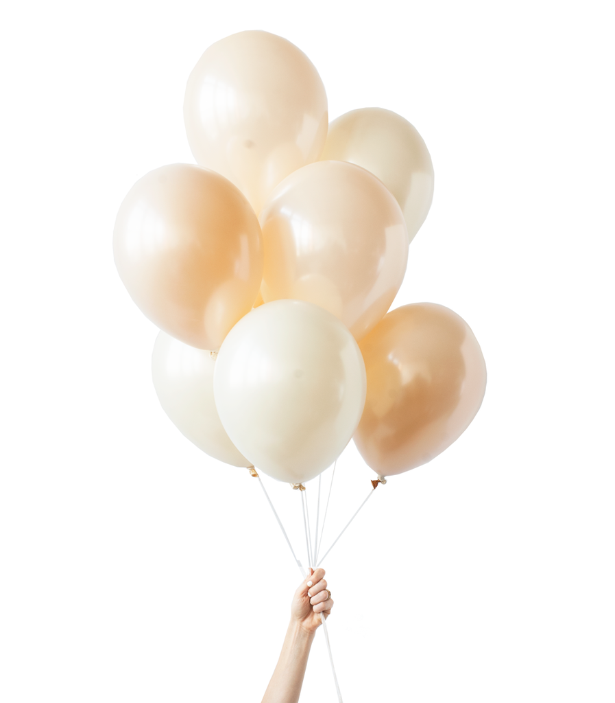 Pearly Cream White And Light Gold Balloons Perfect For Wedding Showers Celebrating Anniversaries And Champag Bridal Shower Balloons Balloons Wedding Balloons