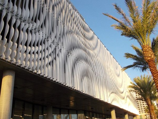 Amazing Dscn7336z Shining Sculptural Facade On Parking Garage Levels
