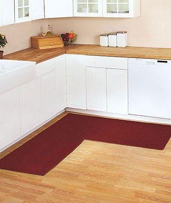 Kitchen Non Slip Berber L Shaped Corner Runner Rug 68x68 Rugs 4