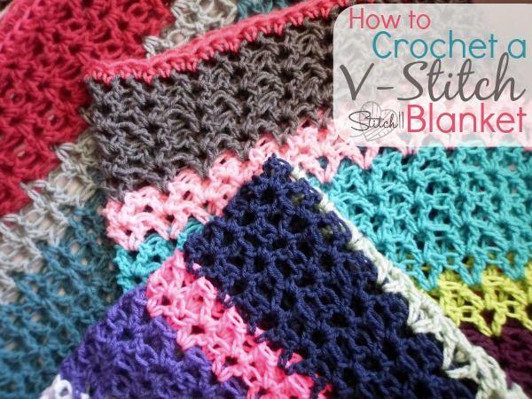 How To Crochet A V Stitch Blanket Stricken Und Hakeln Verschiedene Hakelstiche Hakelmasche