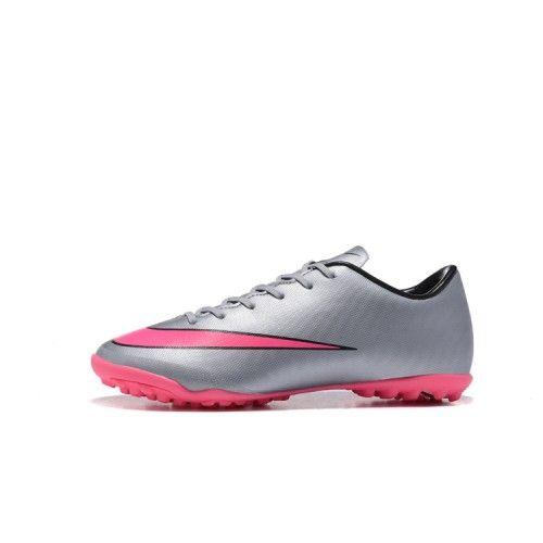pretty nice 7b60a 27cf5 Barato Nike Mercurial Victory V TF Hombre Mujer Plata Melocoton