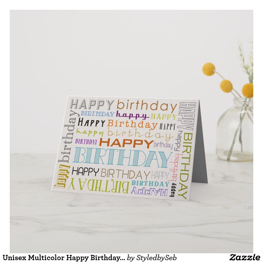 Unisex multicolor happy birthday text bday card birthday cards unisex multicolor happy birthday text bday card birthday cardsfunny birthday cardsgreeting cards m4hsunfo