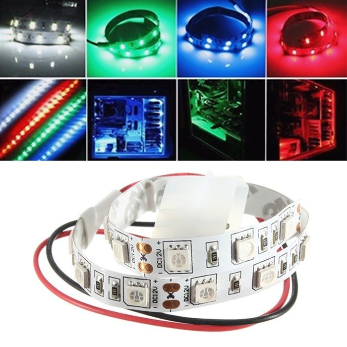 25cm smd 5050 non wtaterproof led flexible strip light pc computer 25cm smd 5050 non wtaterproof led flexible strip light pc computer case adhesive lamp 12v mozeypictures Image collections