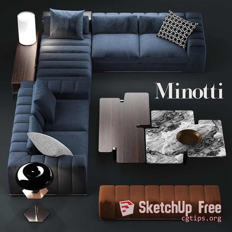 2046 Sofa Sketchup Model Free Download Modern Sofa Sectional Living Room Sofa Design Sofa Design