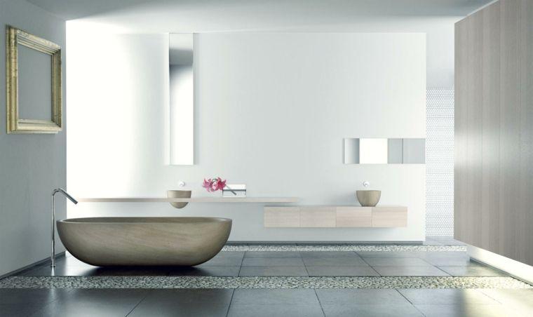 Bagno zen arredo bagno moderno pavimento piastrelle colore grigio