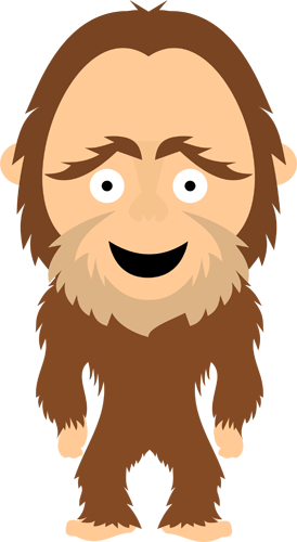 chibi big foot caveman