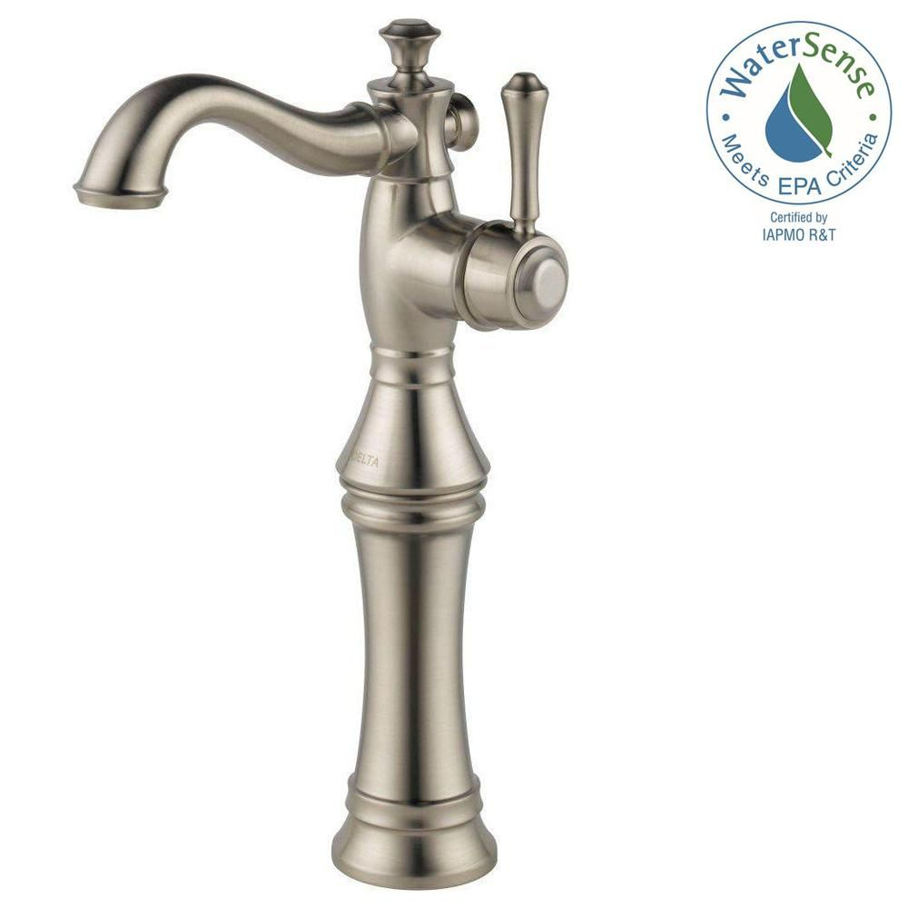 Delta Cassidy Single Hole Single-Handle Vessel Bathroom Faucet in ...