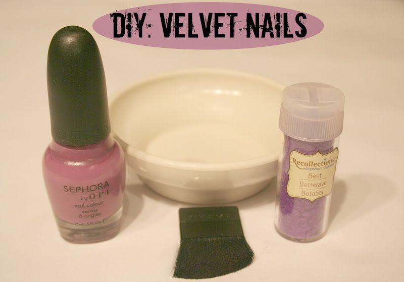 E l l e S e e s: Beauty DIY: Velvet Nails