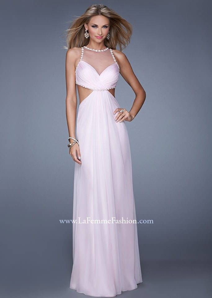 084f9341944 La Femme 21090 Open Back Evening Gown
