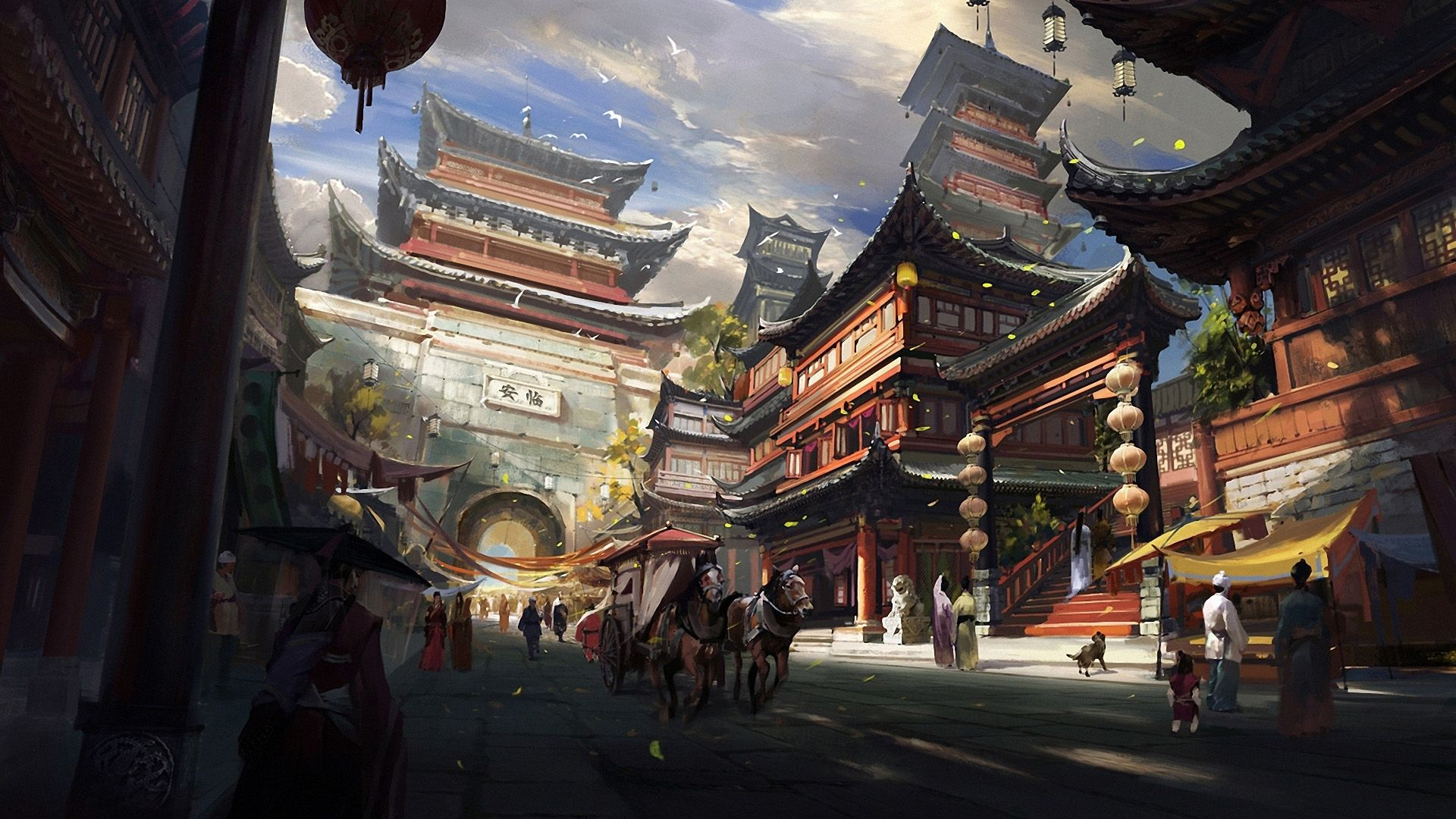 Desktop Ancient Chinese City In 2019