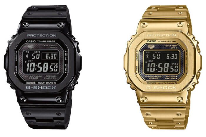 6d92367d1c9 G-Shock GMW-B5000GD-1 GMW-B5000GD-9 Black and Gold Full Metal Squares