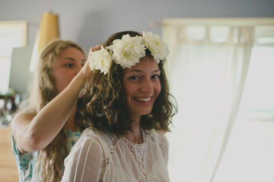 A beaming bride.