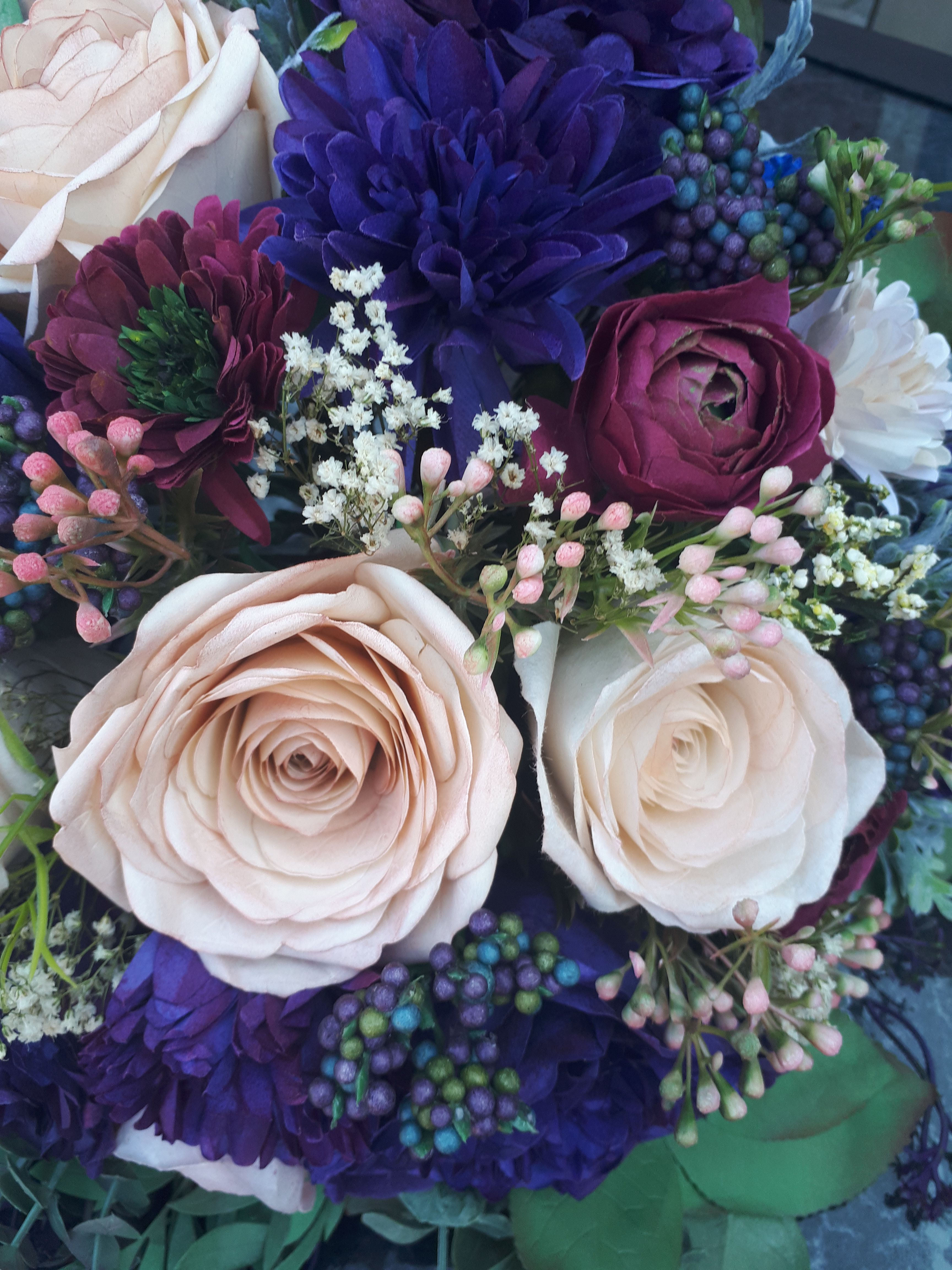 Pin by Roses N\' Lace Studio on Paper Flower Bouquets | Pinterest ...