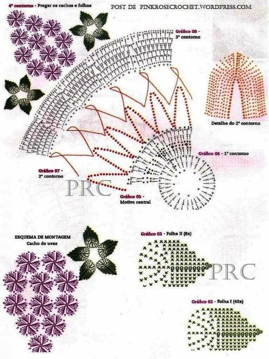 El mundo del crochet.: Carpeta con Uvas | 0 hora cero | Pinterest ...