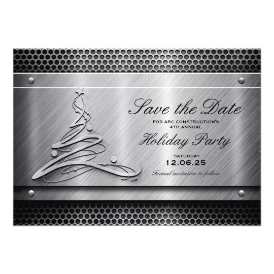 Metal Holiday Party Invitation Save The Date Christmas And Holiday - holiday party invitation