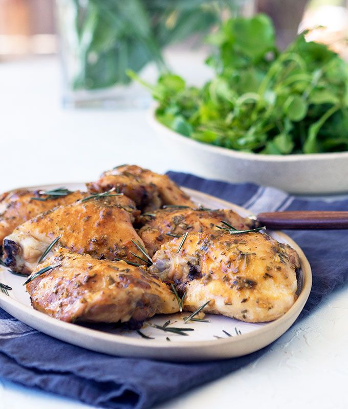 Oven Baked Skinless Chicken Thigh Cutlets With Maple