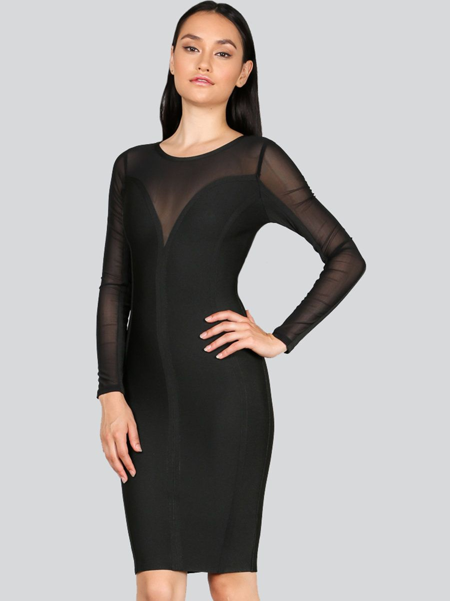 Adorewe stylewe wow couture black polyester seethrough look sexy