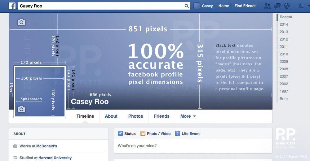 facebook artist page banner size