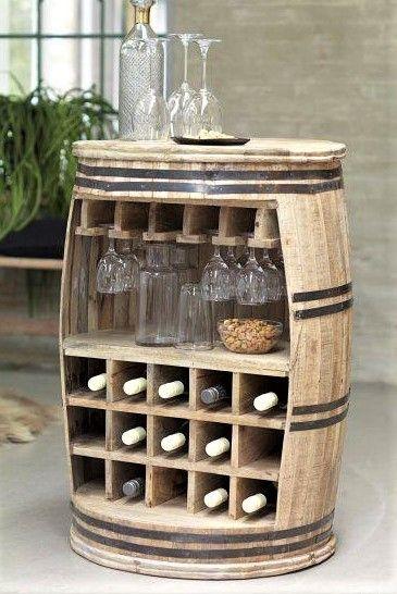Id es pour recycler des tonneaux en bois decoration en 2019 pinterest - Tonneau de vin decoration ...