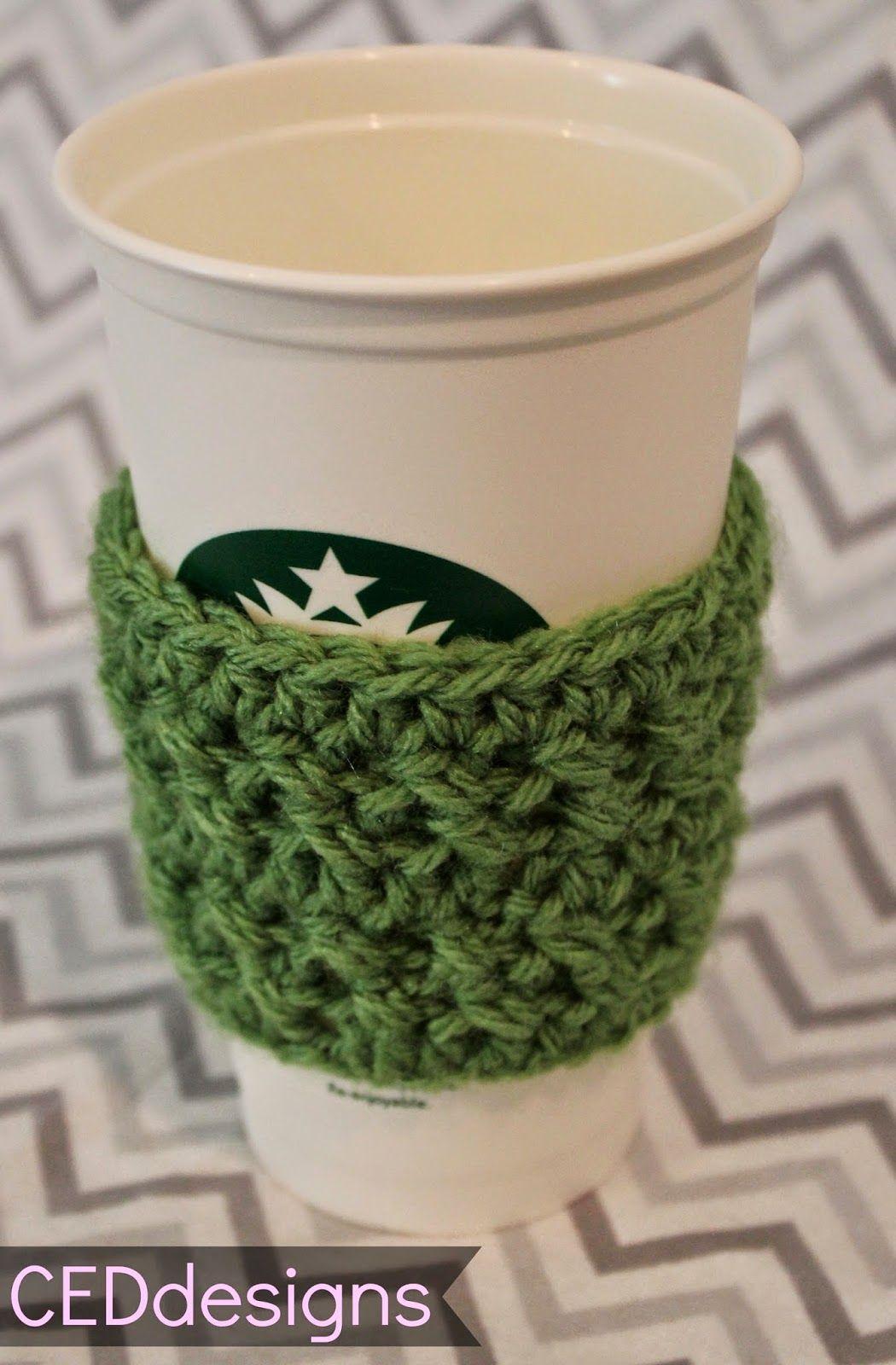 Ceddesigns New Pattern Crochet Coffee Sleeve Coffee Sleeve Pattern Crochet Mug Cozy Crochet Coffee Cozy