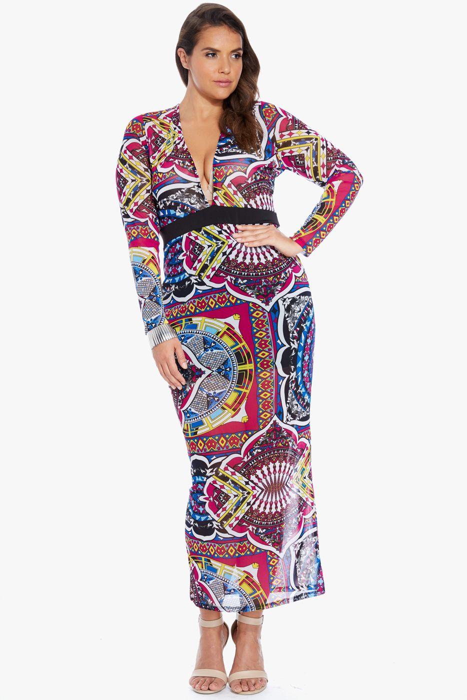 Plus size jolissa tie dye off shoulder maxi dress fashion to