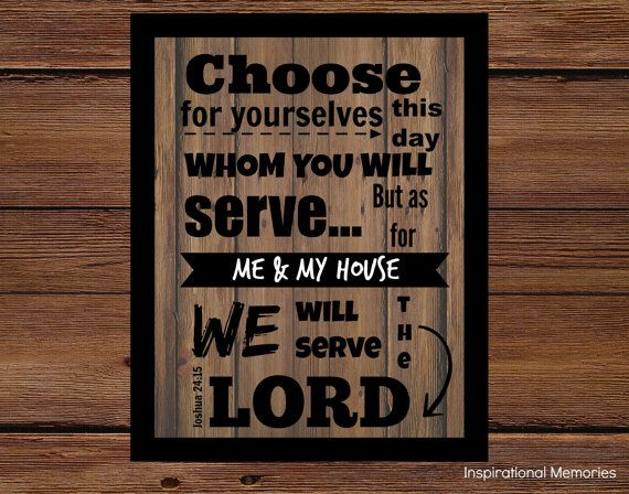Framed Bible Verse Joshua 2415 Choose for by inspirationalmemory, $9.99