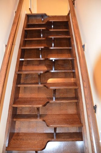 Ship 39 s ladder stair to attic design pictures remodel for Stair design code