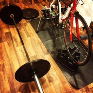 Lifting and biking.... can it get much better?  Some awesome cleans and bike power workout here.