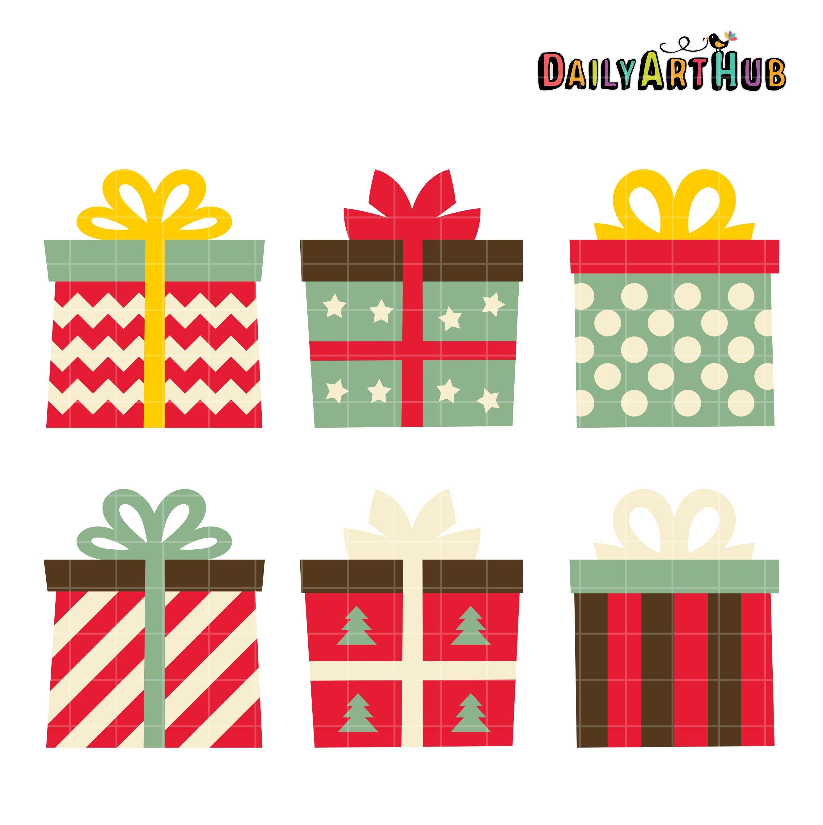Christmas Gifts Clip Art Set Daily Art Hub Free Clip Art Everyday