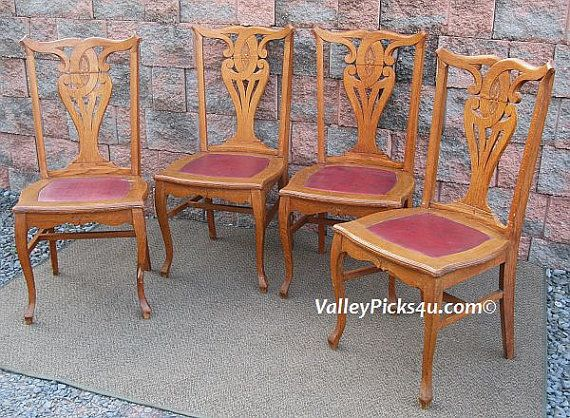 Antique SIKES Vintage Tiger Oak Shabby Victorian CHIC by picks4u, $525.00