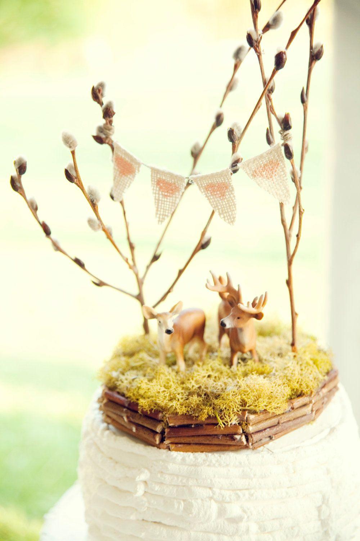 Forest Full of Love, Deer Wedding Cake Topper | {Elopement Things ...