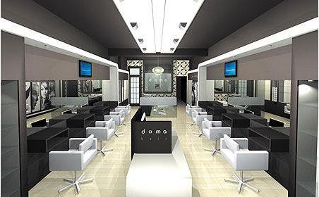 Black And White Nice Salon Interior Salon Design Salon