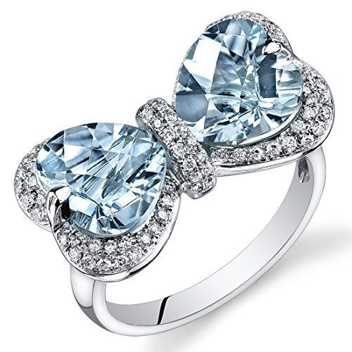 Peora 14K White Gold Heart Aquamarine Diamond Ring (4.55 cttw), http://www.amazon.com/dp/B00BURWL5O/ref=cm_sw_r_pi_awdl_SQ31ub0N2AA2Q