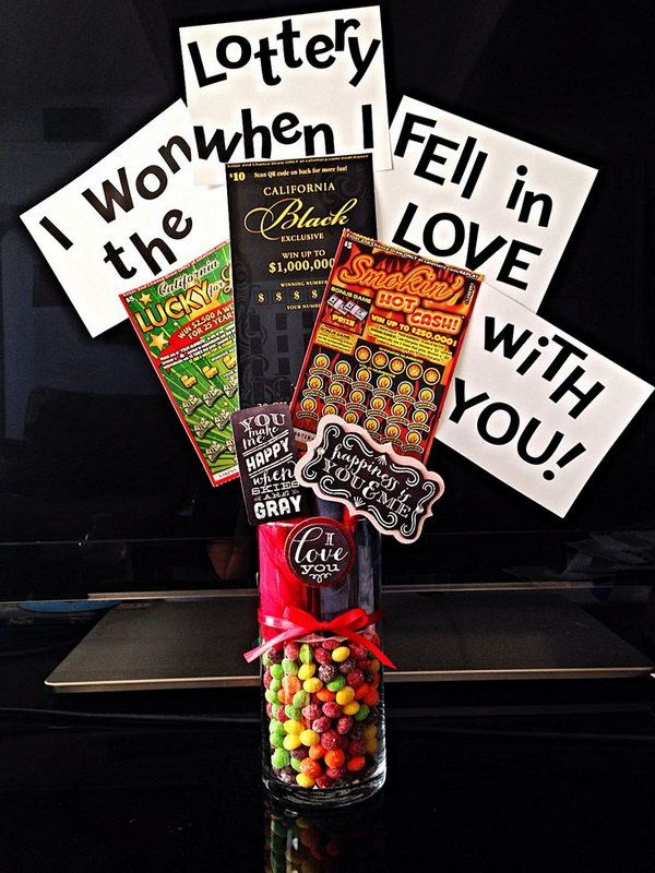 Free Birthday Lottery ~ I won the lottery when fell in love with you diy valentines day gift for boyfriend http